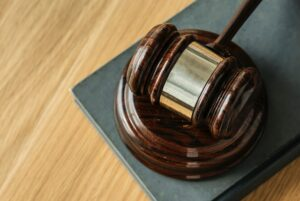 court gavel on a table