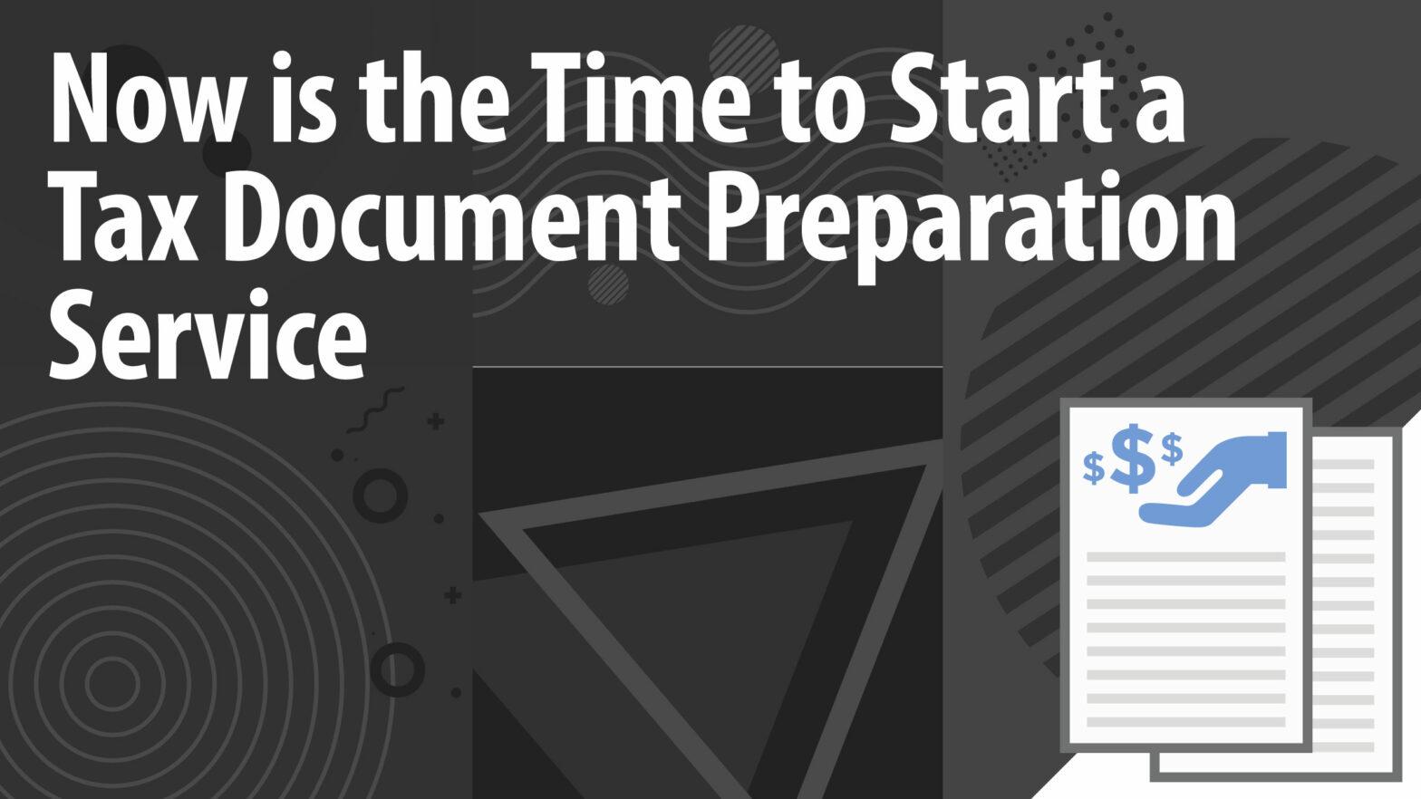 Tax Document Preparation Article Header