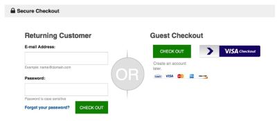 Guest Checkout Option
