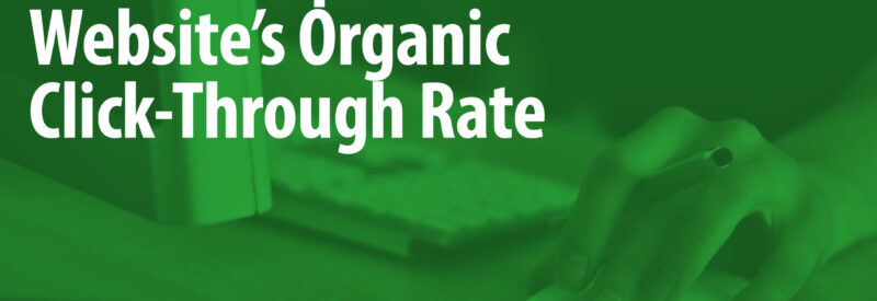 Organic Click Through Rate Article Header