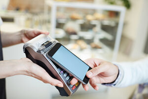 no contact tap-to-pay terminal