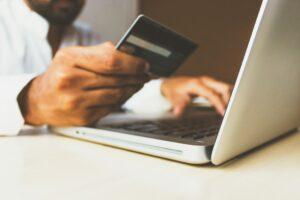 cardholder entering credit card information online