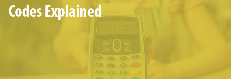 list of credit card declined codes